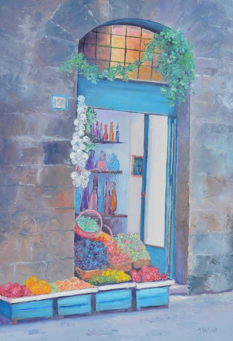 """""""The Fruit Shop, Siena, Italy"""" by Jan Matson. Paintings for Sale. Bluethumb - Online Art Gallery"""