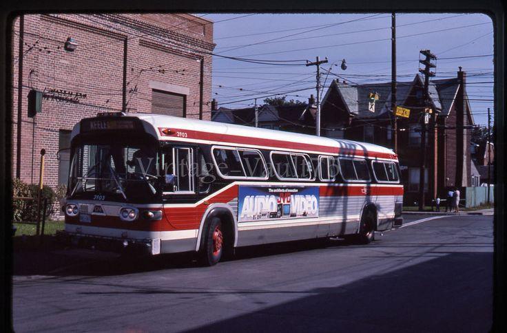 ORIGINAL SLIDE BUS 3903 TTC TORONTO KODACHROME 1984