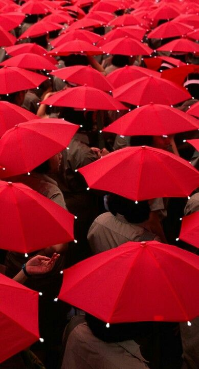 You must own a red umbrella at some point in your life. #MACxNastyGal !