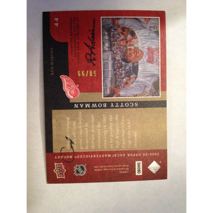 Scotty Bowman 2008-09 UD Masterpieces Green #44 Hockey Base Card 58/99
