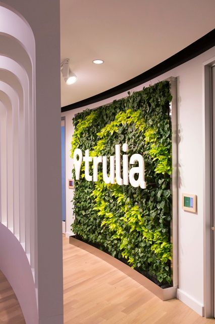 Trulia's living wall greets you upon entering. #refinery29 http://www.refinery29.com/trulia-office-tour#slide-1