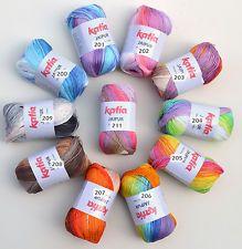 Katia Jaipur cotton wool with gradient for knitting & crocheting crochet yarn
