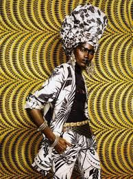 Inspiring the African Chic look.  incorporating traditional African patterns with a twist. The yellow contrasts with the black and white and creates a 'sunset feel'