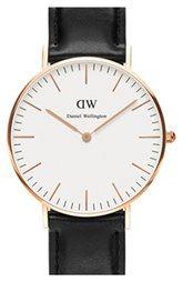 Daniel Wellington 'Classic Sheffield' Leather Strap Watch: 36mm