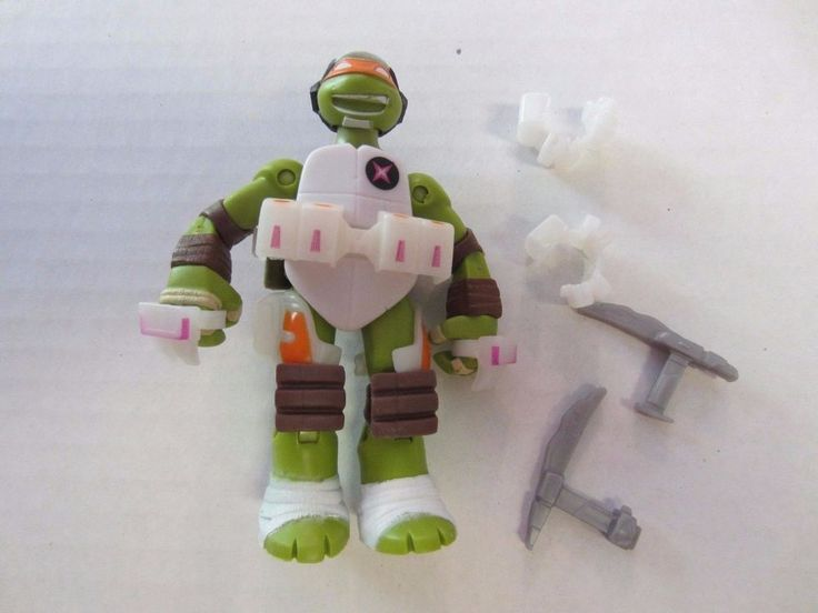 "Space Captain Mikey Michelangelo Ninja Turtles Action Figure TMNT 4 1/4"" #Unknown"