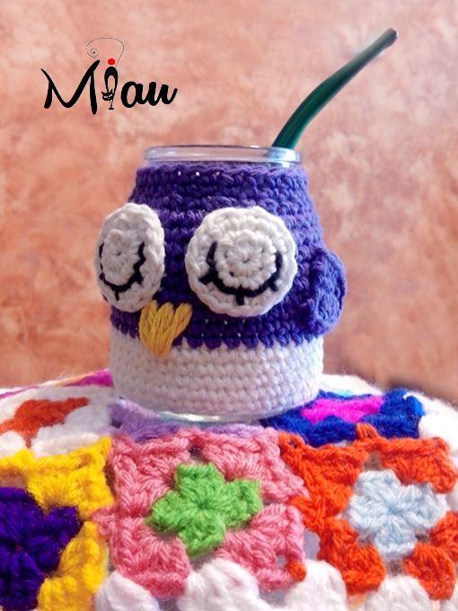 Mates simpáticos #matestejidos #crochet #buhos, #miau. Consultas:anaramirez131@gmail.com