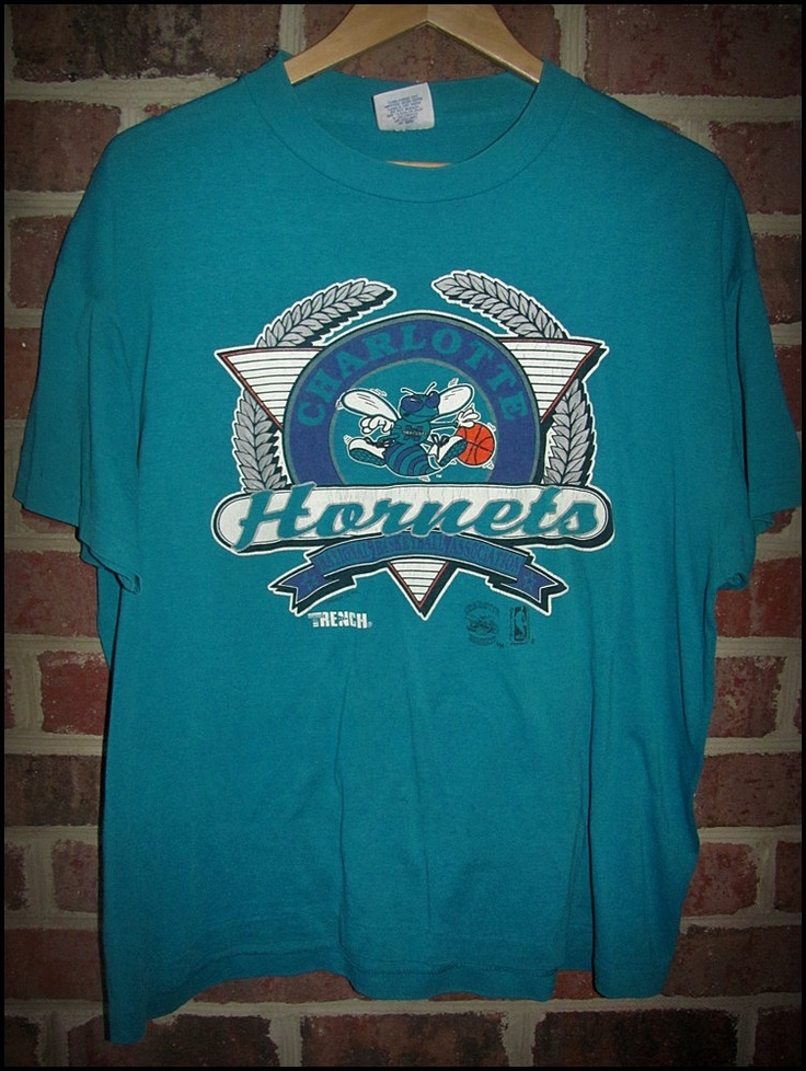 80s NBA Charlotte Hornets Basketball Logo Shirt | THE HIVE ...