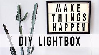 diy cinema light box - YouTube