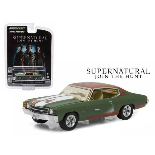 """Bobby's 1971 Chevrolet Chevelle SS Supernatural """"2005 Current TV Series"""" 1/64 Diecast Model Car by Greenlight"""