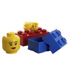 Boîte rangement Lego 8 plots - Bambins Déco