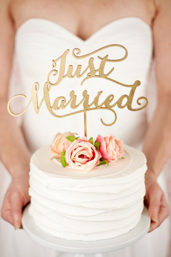 Wedding Cake Topper - Just Married