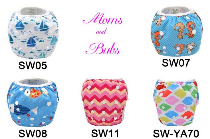 Reusable Swimming Nappy Pants Alva Washable OSFM Newborn-Toddler Swimming Diaper