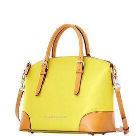 Dooney & Bourke | Claremont Domed Satchel | Spring Fashion    Yellow | Trends | Trending | Yellow Handbag | Yellow Accessory | Yellow Accessories | Yellow Purse | Fashion | Style | Bold | Dandelion | Daffodil | Mustard | Lemon | Limone | Banana | Pineapple | Gold | Butterscotch | Honey | Bumblebee | Blonde | Butter | Tuscan Sun