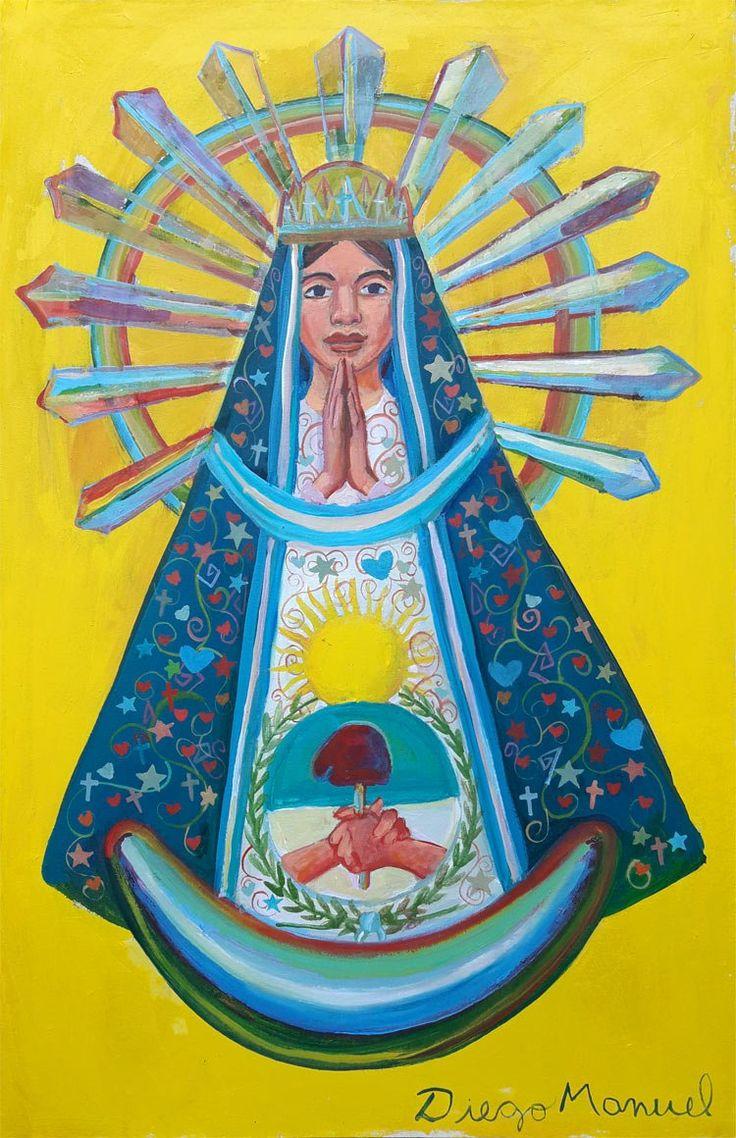 Virgen de Luján 7, acrílico sobre tela, 45 x 70 cm. 2017