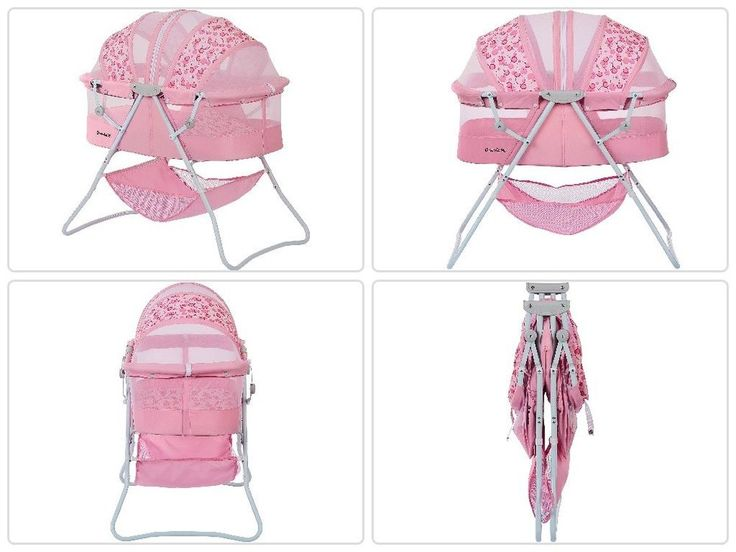 Portable #Baby Sleeper #Bassinet Pink #Infant #Folding #Canopy #Nursery #Newborn