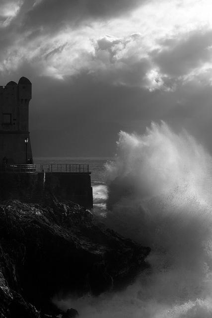❦ Nervi (Genoa) - Sea Storm by Fetch_69