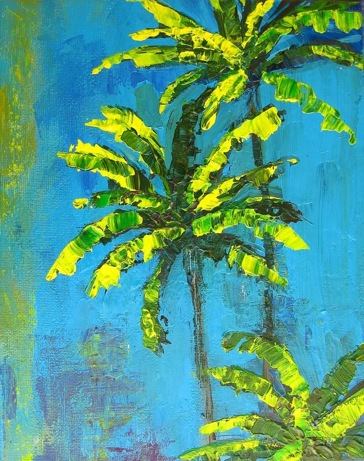 Palm Trees Painting  - Palm Trees Fine Art Print