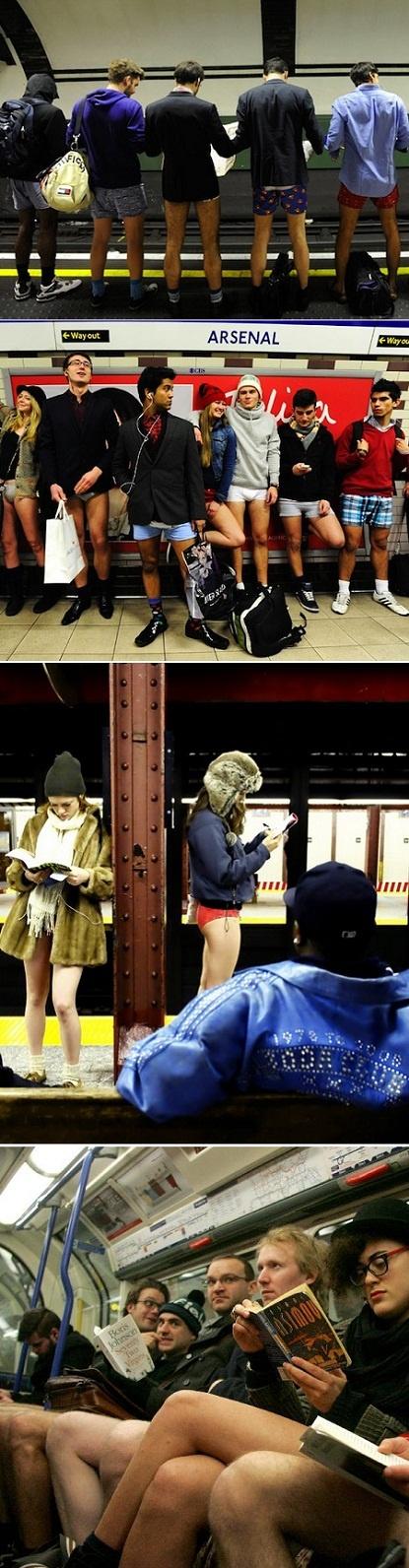 Cheeky:) No pants subway ride!!!