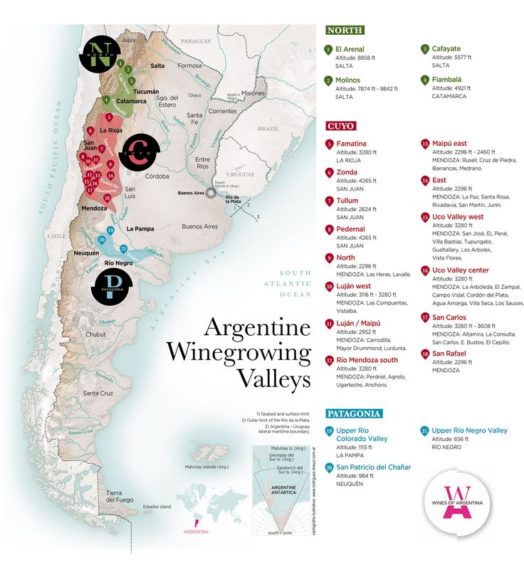 Argentina wine zones