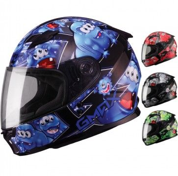 GMax GM49Y Attack Full Face Youth Motorcycle Street Riding Helmet