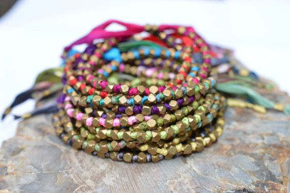 Silk Friendship Bracelets handmade with love. The perfect addition the rest of your arm candy. We love these LUXURIOUS adjustable bracelets made