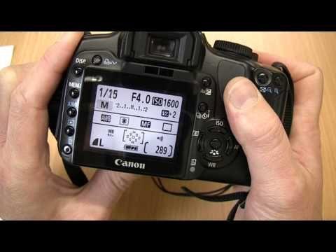 Using the Canon EOS 400D / Digital Rebel XTI DSLR - Media Technician Steve Pidd - YouTube