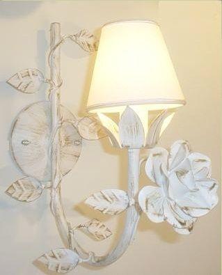 Arandela lustre de parede 1 lampada , na cor de sua preferencia (dourado, branco provençal, ouro velho ou cor solida) 21 2705-3292