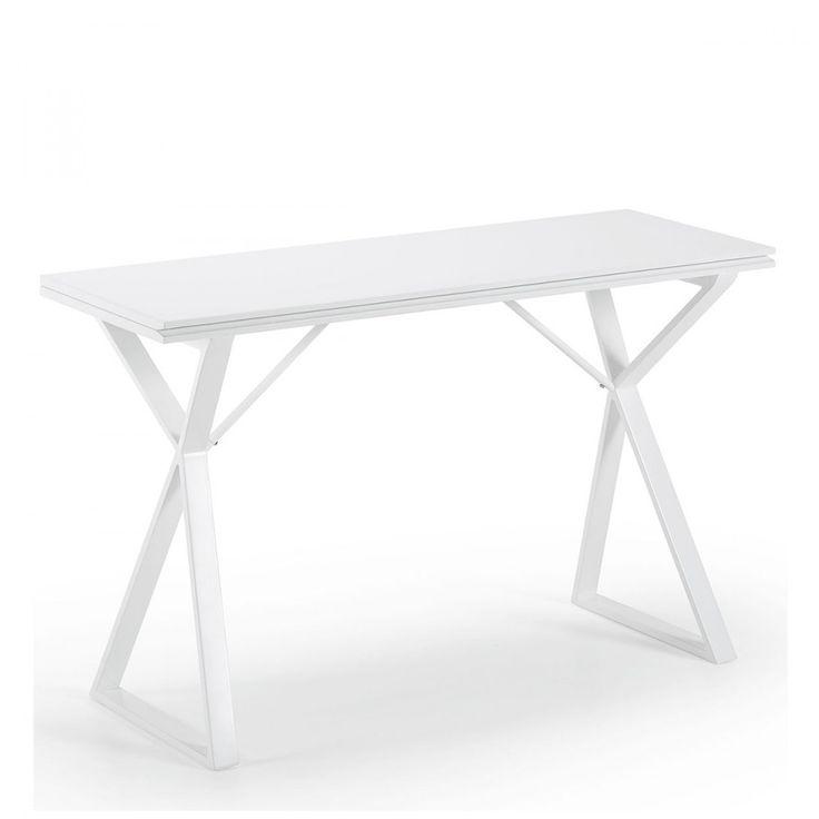 Table console extensible design 45-90 Atik blanche