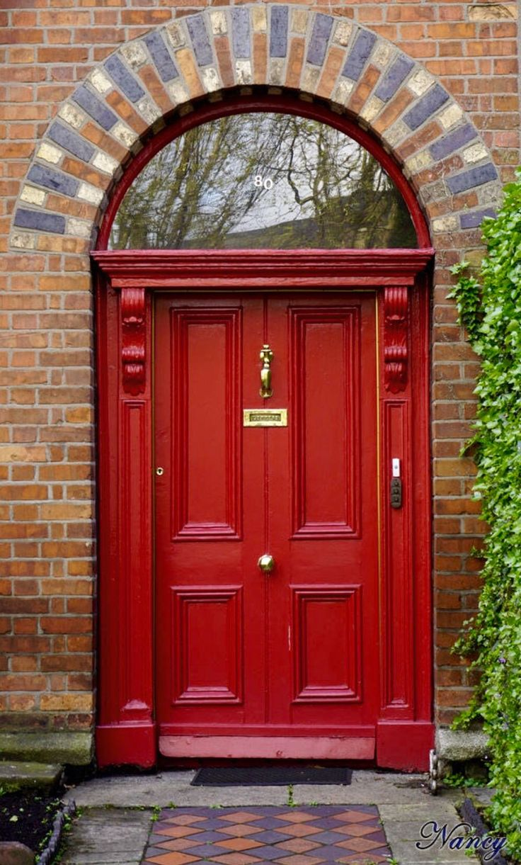 Ie closet doors and sometimes on an exterior door in conjunction with - Red Door In Dublin Ireland