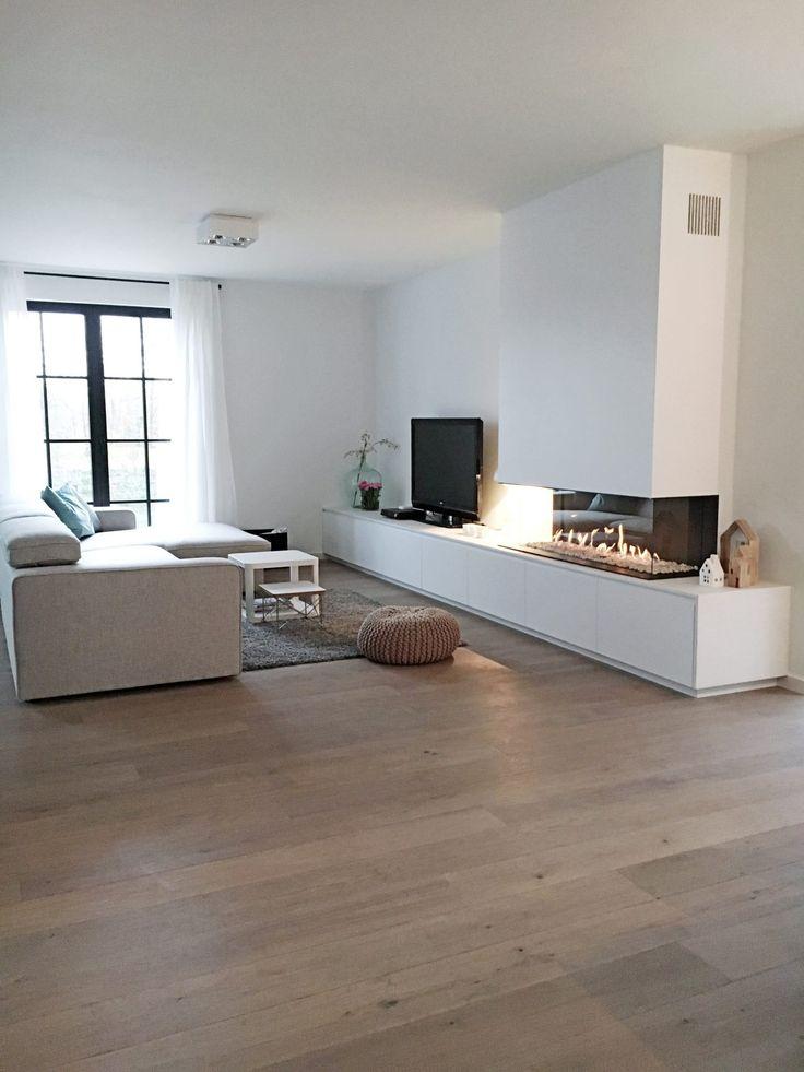Totale Renovatie Van Woonkamer Met Haardmeubel – Interieurstyling
