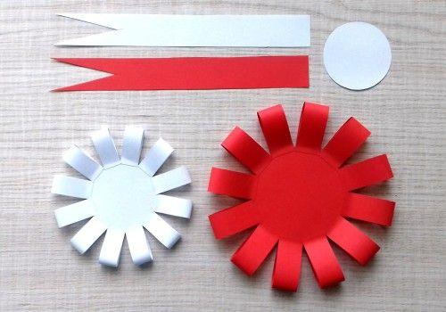 Szablon Kokardy Narodowej Do Druku Art Activities For Kids Arts And Crafts For Kids Flower Diy Crafts