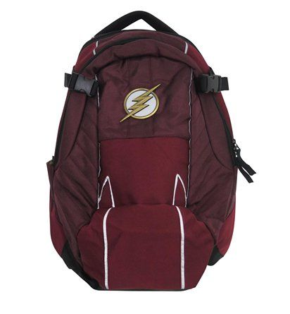 This rugged Flash backpack conveys the likeness of the specific Flash costume adorned in the hit, aptly-titled CW series,