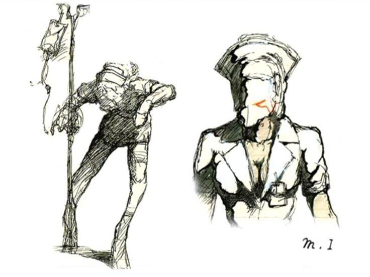 Silent Hill 2 Concept Art bubble head nurse design