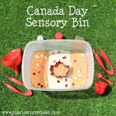 Play and Learn Everyday: Canada Day Sensory Bin