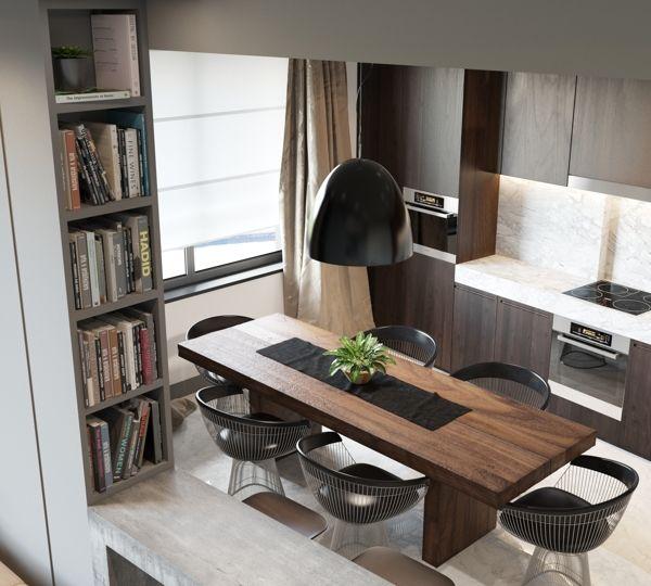 Deco Chambre Loft : Cuisine Étroite sur Pinterest  Îlot de cuisine étroite, Cuisine