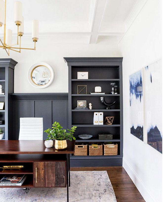 best paint color for office. this color is the perfect blend of navycharcoal cheating heart 1617 by benjamin moore paint best for office