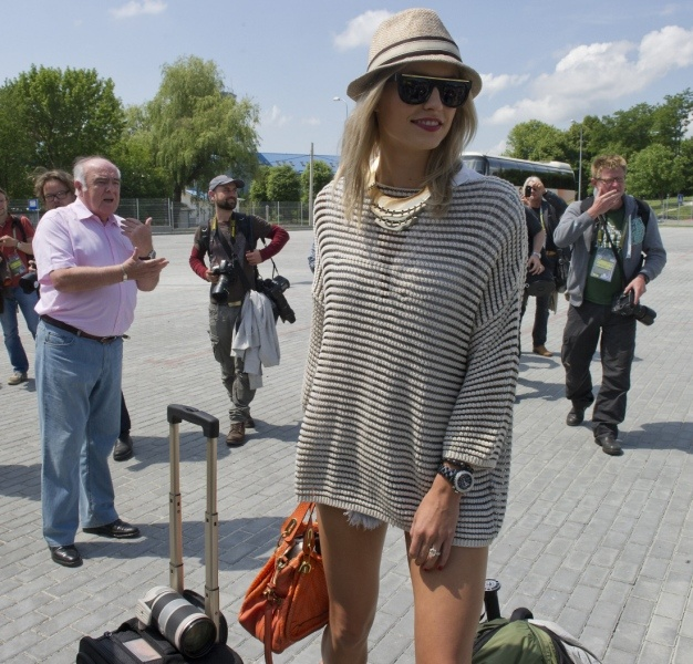 Kürzeste Hose der EM 2012 - Lena Gercke (Freundin von Semi Khedira)