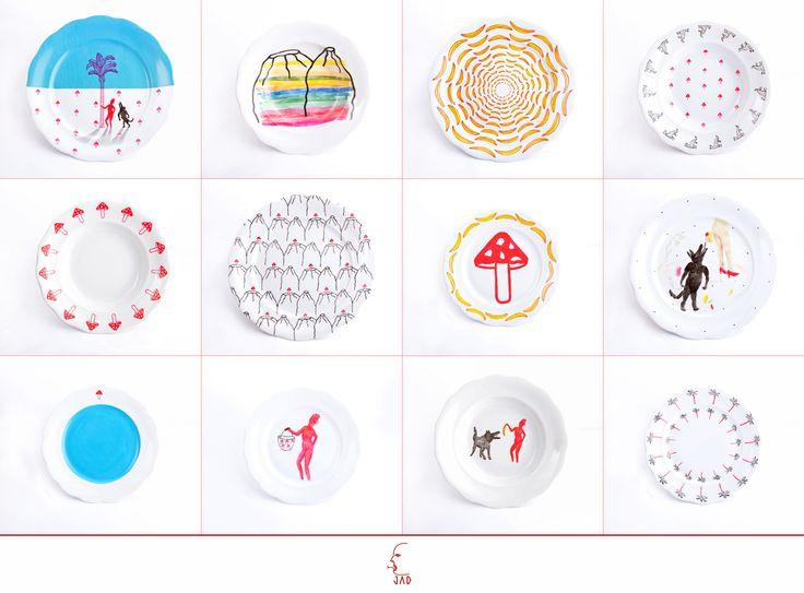 design by JAD   hand painted porcelain   Rotkäppchen