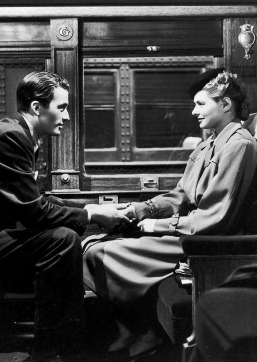 Gregory Peck Ingrid Bergman in Spellbound, 1945 (dir. Alfred Hitchcock):
