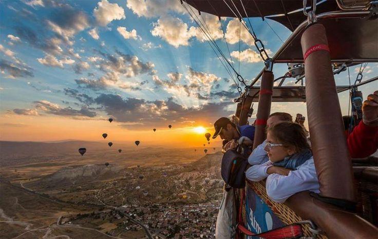 #ToDOList Sunrise during a hot air balloon tour