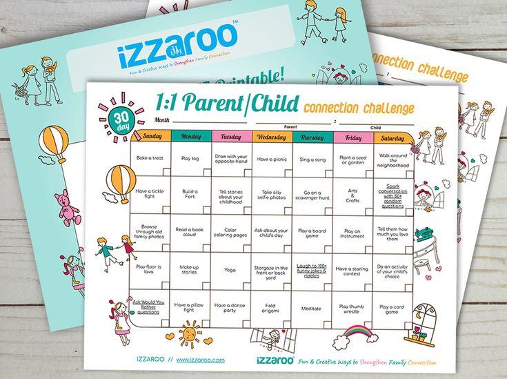 Free printable parentchild quality time calendar in