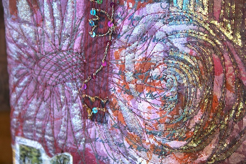 Textile Arts - Art quilting - what is lutradur www.colouricious.com