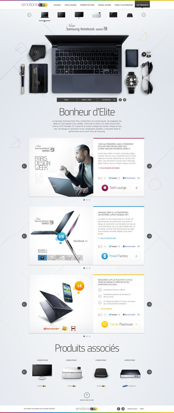 Emotions Lab by Samsung by yul , via Behance - website