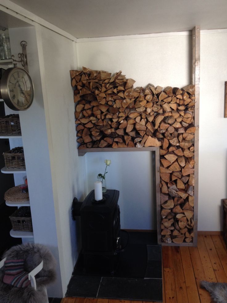 "How to store your firewood in a small apartment! I love my ""vedhylle"", it makes such an impression in the interior."