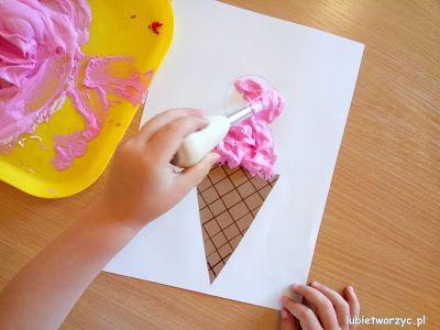 "Lody malowane ""pufy paint""! Instrukcja już na blogu! :)  #lody #lod #icecream #icecreams #puchnącafarba #puffypaint #farba #paint #painting #malować #diy #zróbtosam #handmade #rękodzieło #tutorial #poradnik #jakzrobić #howto #craftsforkids #crafts #craft #kidscraft #kidscrafts #preschool #kindergarten #nurseryschool #przedszkole #summer #wakacje #lato #holiday #vacances #summercraft #summercrafts"