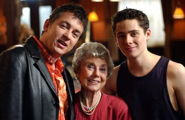 Alfie, Nana and Spencer Moon, played by Shane Richie, Hilda Braid and Christopher Parker.