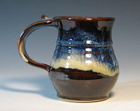 Matte Black Joe Ceramic Mug (14 Oz.) | Custom Ceramic Mugs  |Black Stoneware Pottery Mug