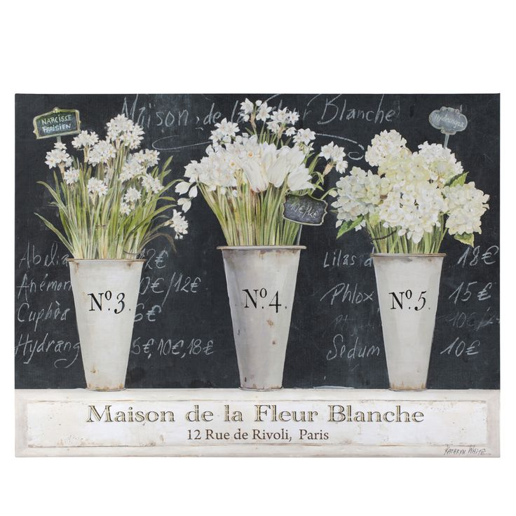 Fleur Blanche Canvas Kathryn White For The Home In 2019