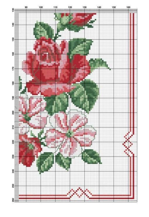 Rose e campanule rosse 2