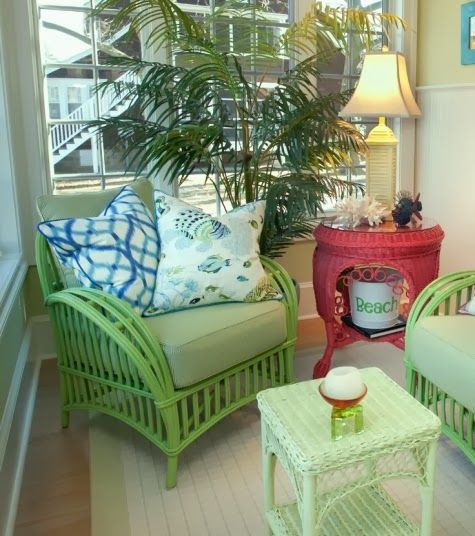 wicker furniture decorating ideas. Lovely Celery Green Wicker | Outdoor Living-Porches-Patios Pinterest Celery, Porch And Patios Furniture Decorating Ideas